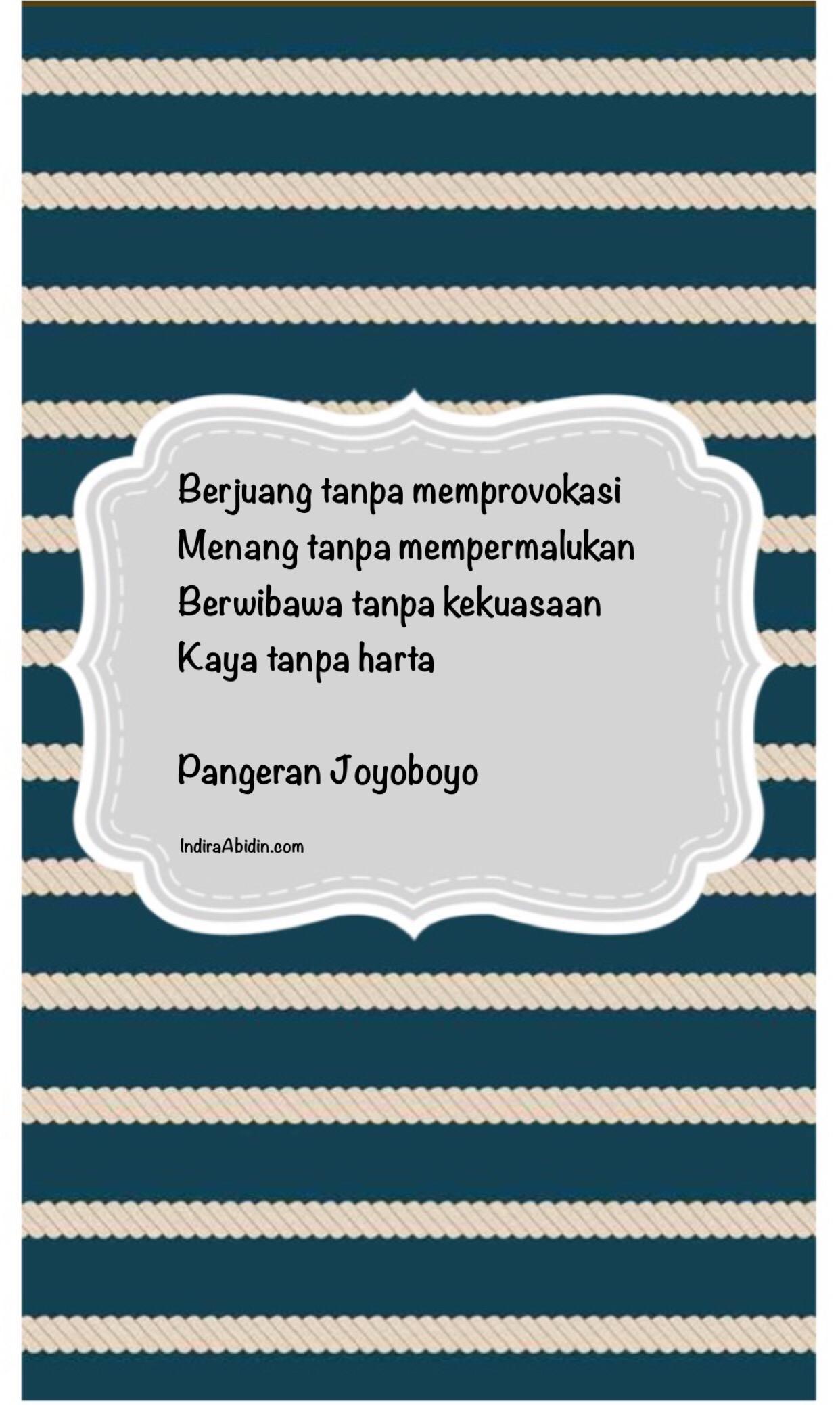 10 Filosofi Jawa Dari Pangeran Joyoboyo Indira Abidins Blog