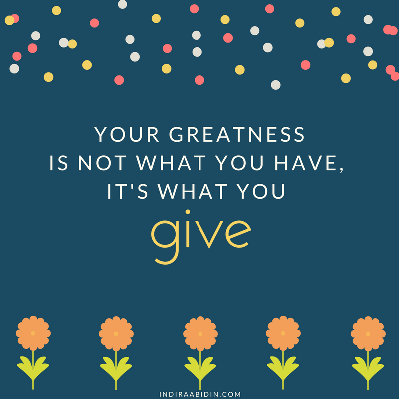 giving and greatness